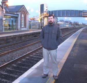 Joe O'Brien at Balbriggan Train station