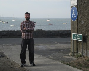 Joe O'Brien stands at the Dorn in Skerries, the narrow piece of land that connects Red Island to the mainland. If predictions in the recent International Panel on Climate Change report come through this area of land will be under water and Red Island will be disconnected from the mainland.