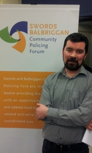 Joe O'Brien at the Balbriggan Community Policing Forum