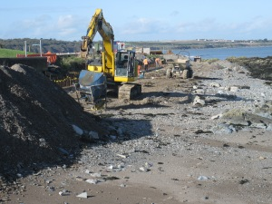 Skerries sea wall reconstruction October 2013