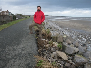 Joe at Skerries coast after February 2014 storm